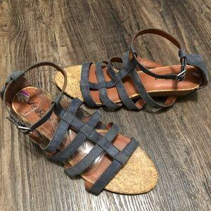 Lucky Brand Lanser Gladiator Low Wedge Sandals